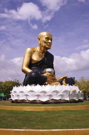 pu: Statue of Luang Pu Thuat  Stock Photo