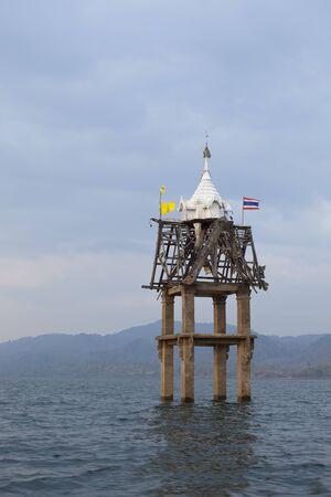 wiwekaram: The structure pavilion on the water  at Wat Wang Wiwekaram