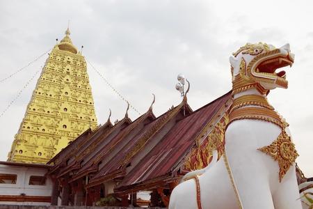 wang: The replica of Budhgaya pagoda at Wat Wang Wiwekaram