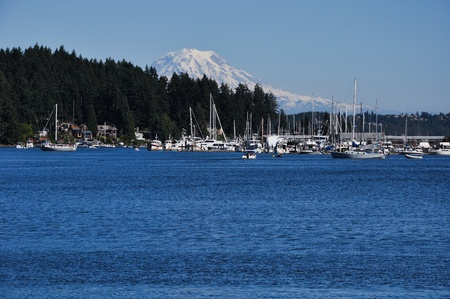 Mt. Rainier from Gig Harbor Stock Photo - 9005690