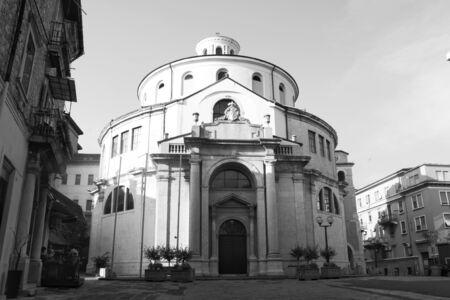 Holy church in black and white in Rijeka