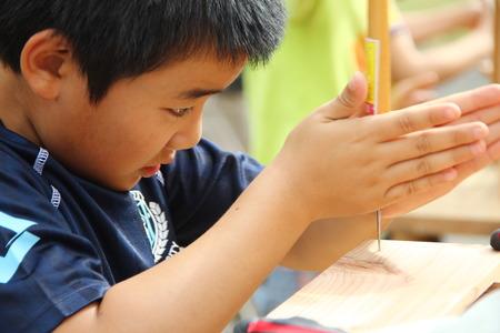 子ども木工教室 写真素材