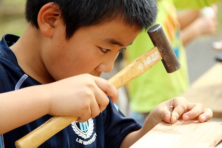 Child woodworking classroom