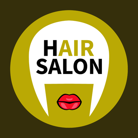 stylish hair: hair shop. Stylish trendy vector golden badge, sticker, tags, flat icon stylist, cosmetologist, hairdresser isolated.