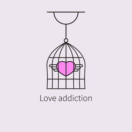 heart with wings in cage