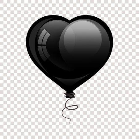 hart shaped: Black glossy flying balloon