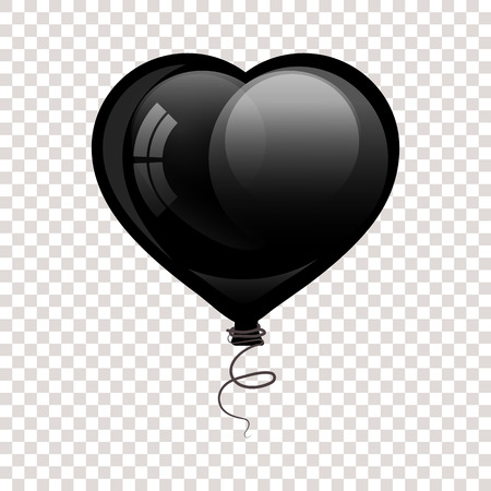 Black glossy flying balloon