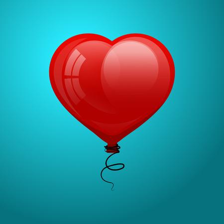 flying balloon: glossy flying balloon Illustration
