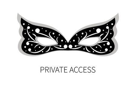 private access: Icon private access Illustration