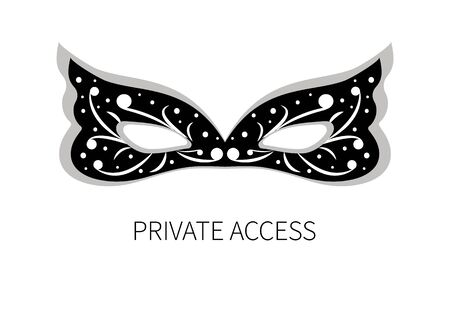 Icon private access Illustration