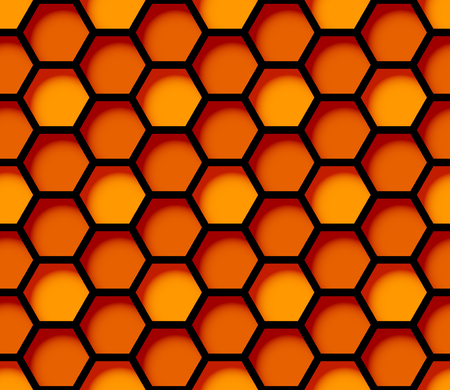 Honeycomb seamless pattern. Corporate identity. Apiary. Print for fabric. Vector illustration.