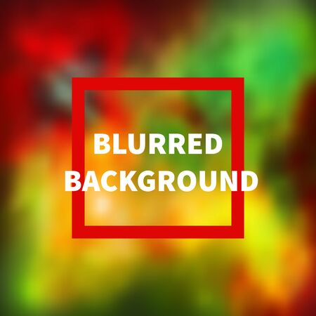 Abstract blurred colorful green, red and yellow background. Vector illustration Illustration