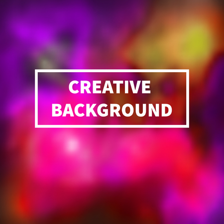 Abstract blurred colorful pink, violet and yellow background. Vector illustration
