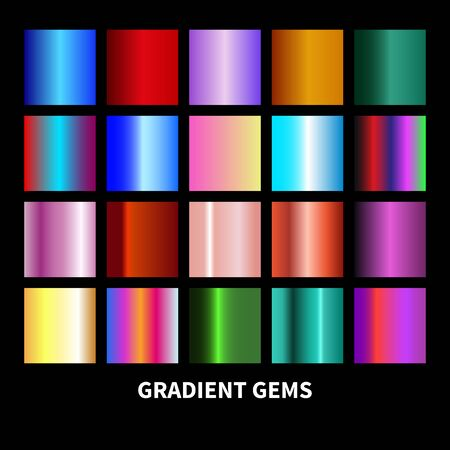 Set gradients gems. Jewelry backgrounds. Vector illustration