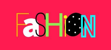 Colorful letters fashion