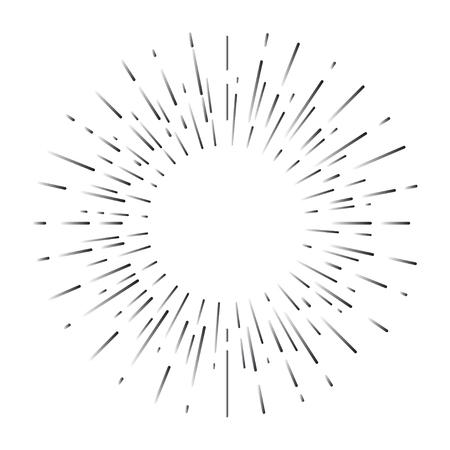 Retro sun rays, sunburst, burst, starburst. Vintage element, line star, burst, flash. Trendy hipster logo. Vector illustration. Stock Vector - 79493623