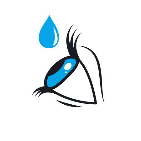 Eye drops  イラスト・ベクター素材