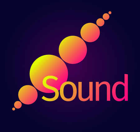 A gradient circle sound wave, equalizer. vector illustration. Illustration