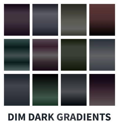 Set of dim dark gradients. Muddy backgrounds. Stock vector Stock fotó - 81007527