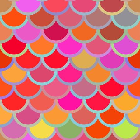 noix saint jacques: Modèle sans couture traditionnel japonais. Squama de poisson multicolore lumineux. Échelles de sirène. Vecteur stock