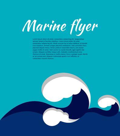 Blue sea wave.