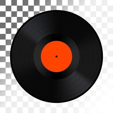 dancing club: Vinyl record isolated