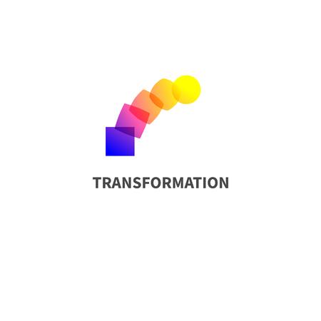 Logoänderung, Transformation. Logo
