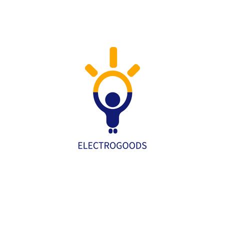 Appliances icon man and light bulb. Иллюстрация