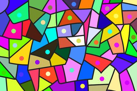 art piece: Colorful patches Illustration
