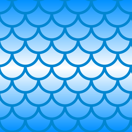 Seamless pattern mermaid tail. Gradient blue fish scales. - Stock vector Illustration