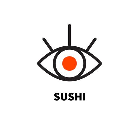 logo delivery sushi Illustration