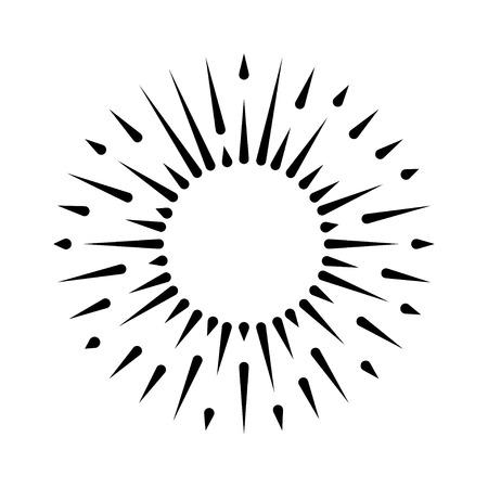 黒ヒップ スター バースト、バースト、太陽、光、背景に分離されたビームをベクトルします。レトロなバナー、フレーム、スター、タグ。抽象的な
