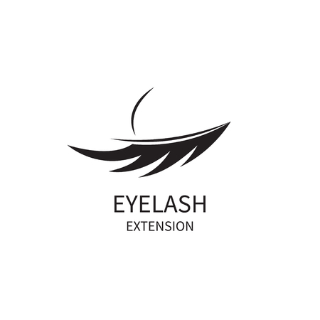 Icon eyelash extension. Logo of beauty salon. Vector stok