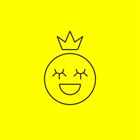 Line smiley princess