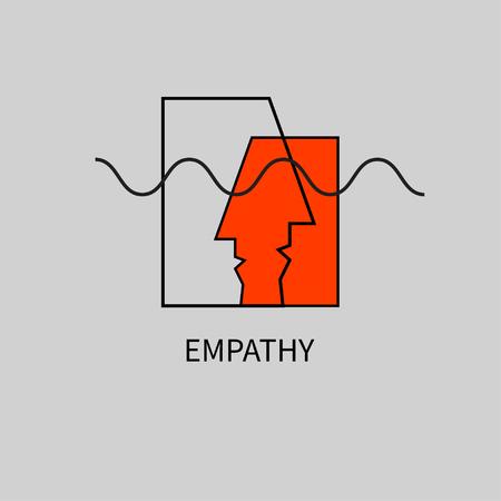 Dwa streszczenie ikona profilu człowieka Ilustracje wektorowe