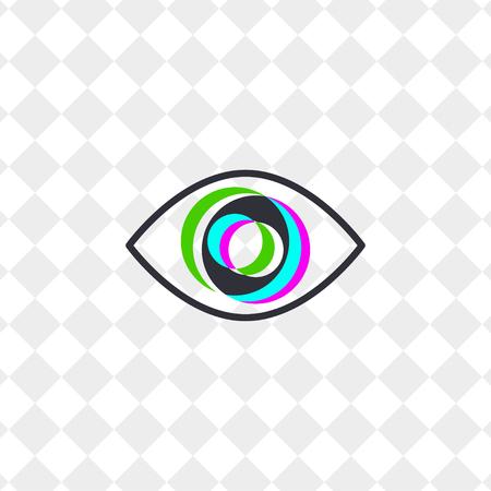 Icon abstract eye, clinic vision correction vector illustration.