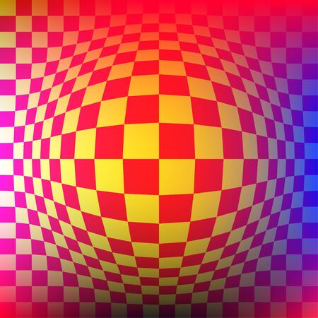 Optical illusion. Distortion of surface. Vector illustration Illustration