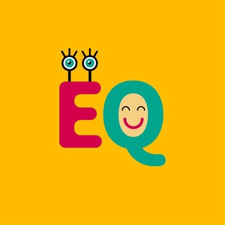 EQ icon Logo sign vector illustration Illustration