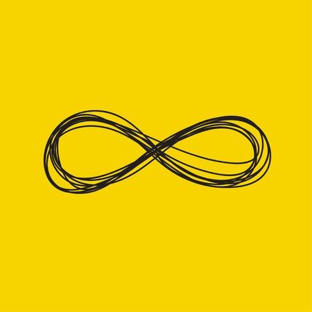 Hand drawn infinity sign 向量圖像