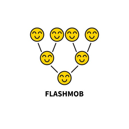 Icon flash mob Illustration