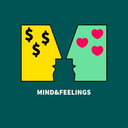 Mind and feelings Ilustração