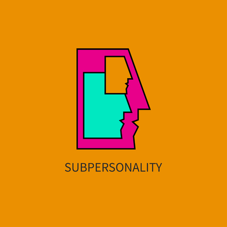 Vector icon subpersonality Illustration