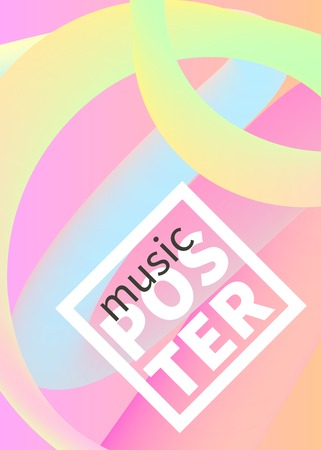 Music poster on pastel pink smooth shapes flowing colors