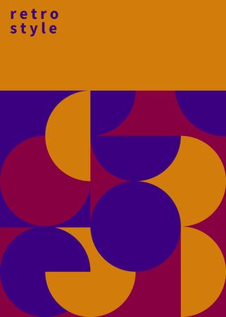 retro brochure design, geometric poster. vector illustration Illustration