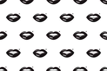 black fashion lips