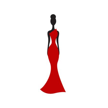 Silueta, de, mujer delgada