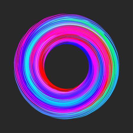 bordure de cercle de couleur Vecteurs