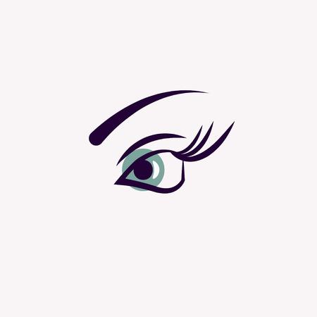 Long lashes, beauty salon icon