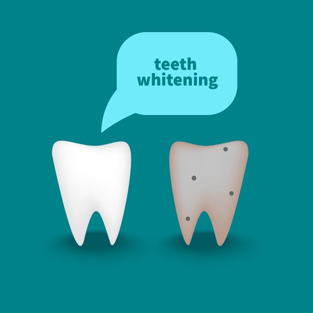 Healthy white tooth Vectores