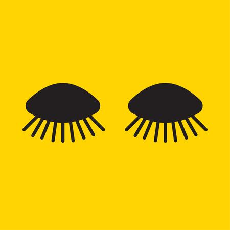 Long cartoon eyelashes